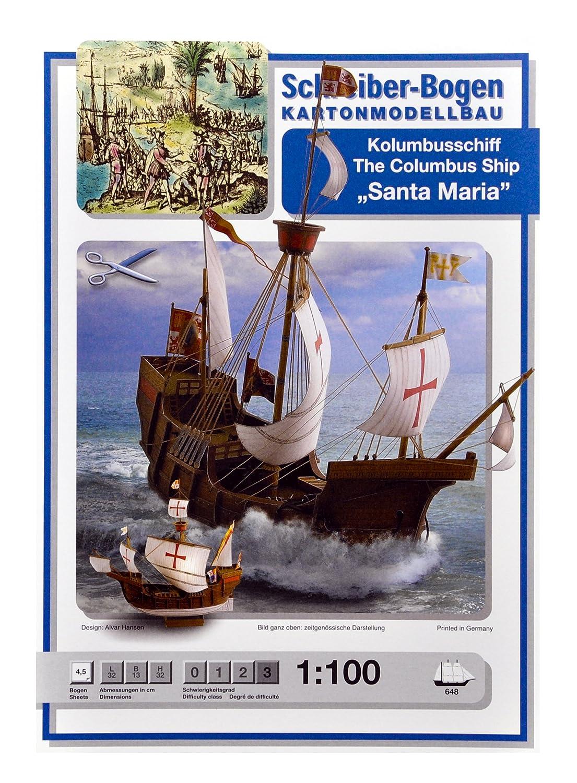 Aue Verlag 32x 13x 32cm Die Columbus Schiff Santa Maria Model Kit Aue-Verlag 648 Fahrzeuge & Schiffe