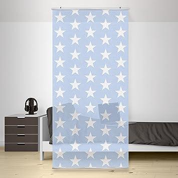 Flächenvorhang Set No.YK51 Sterne Blau, weiß, Sternenhimmel, inkl ...