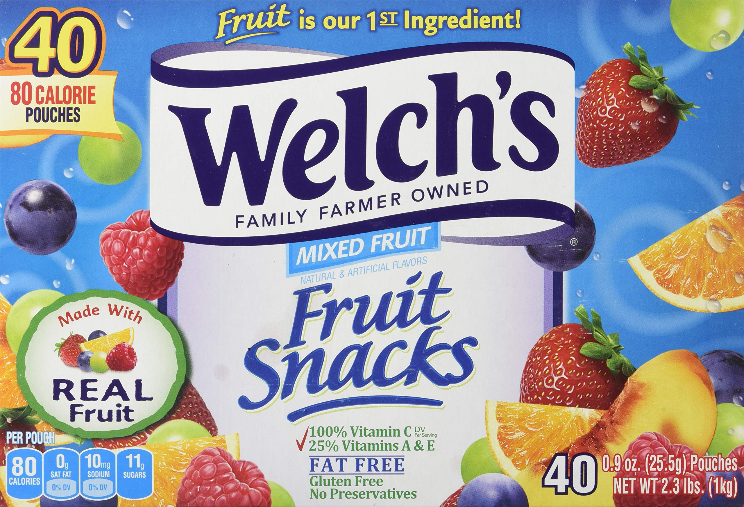 Welch's Mixed Fruit Snacks, 0.9 Ounce (40 Count) by Welch's (Image #1)