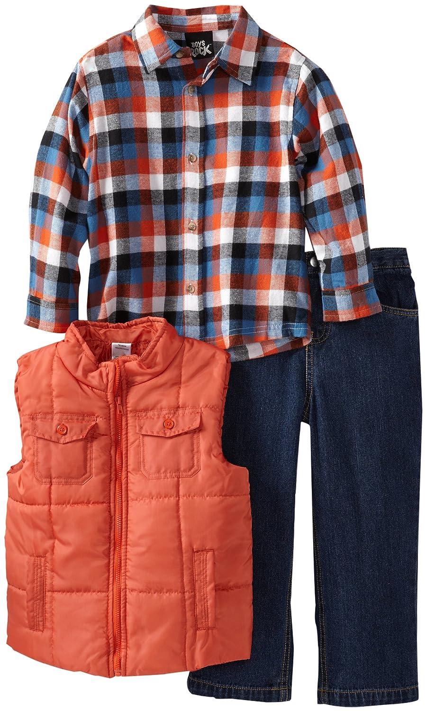 Boys Rock Little Boys 3 Piece Vest Set with Woven Shirt and Denim Pant Boys Rock Boys 2-7 B52310