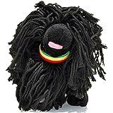 Fab Dog Puli Rasta Plush Dog Toy, Black