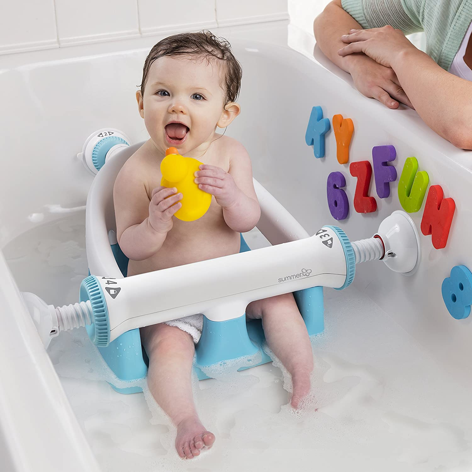 Summer My Bath Seat, Baby Bathtub Seat for Sit-Up Bathing with Backrest Support and Suction Cups for Stability : Baby