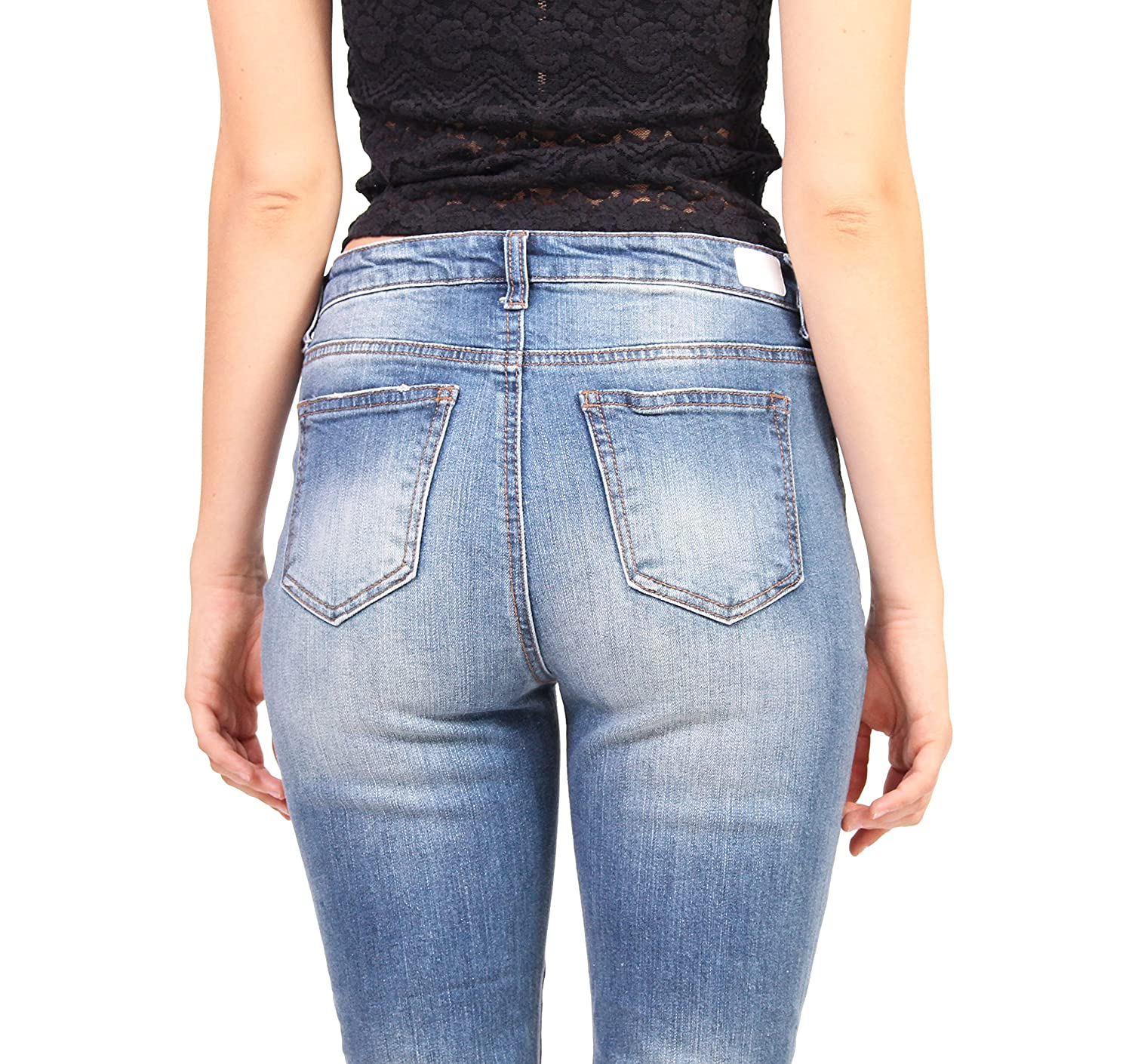 Celebrity Pink Jeans Women High Rise Distressed Ankle Straight Jeans