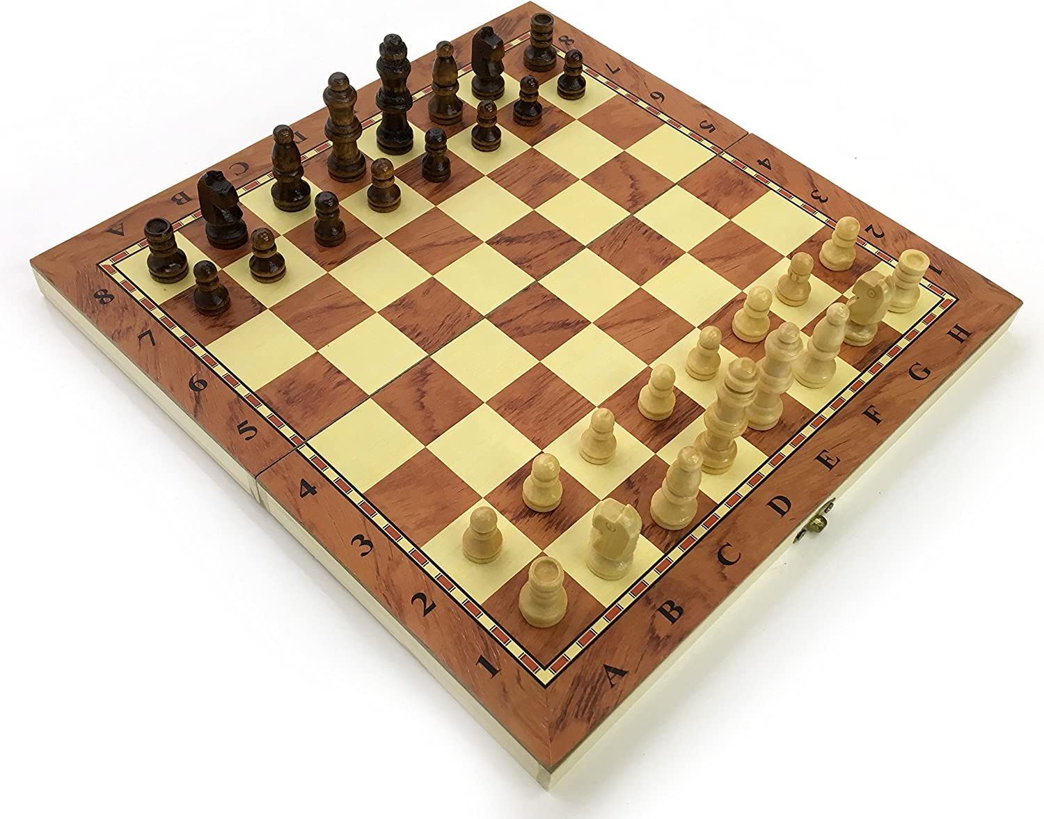 Chess Set Fold Away Board Quality Handmade Wooden Pieces Complete FIDE Compliant Stimulate Your Brain Exercise Your Mind 24 cm 240 mm 10 inch: Amazon.es: Juguetes y juegos