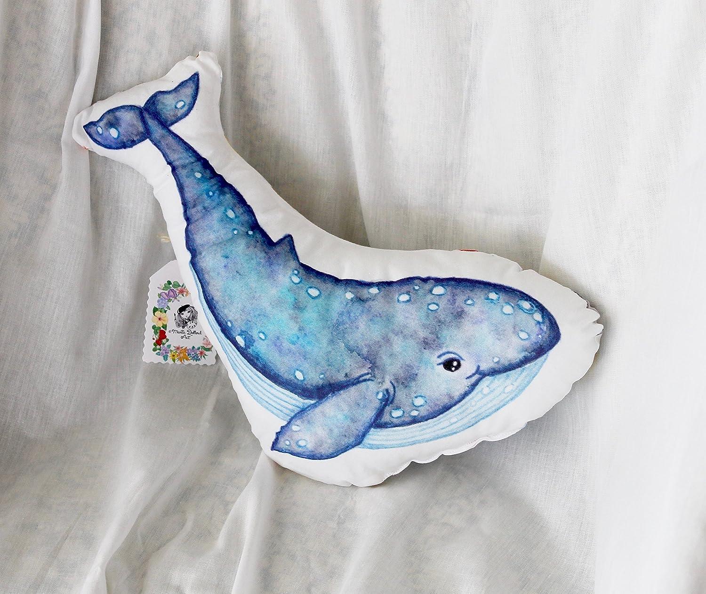 amazon com whale pillow blue whale plush under the sea nursery