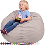 Oversized Bean Bag Chair in Sand Dune - Machine Washable Big Soft Comfort Cover & Memory Foam Filler - Cozy Lounger & Bed - Kids & Teens Love This Huge Sack - Indoor Furniture By Panda Sleep