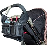 Best Stroller Organizer for Moms! Fits all Strollers, Zip off Pouch, Removable Shoulder Strap, Deep Cup Holders, Mesh Bag for Extra Storage! Superior Quality. 100% Lifetime Guarantee!