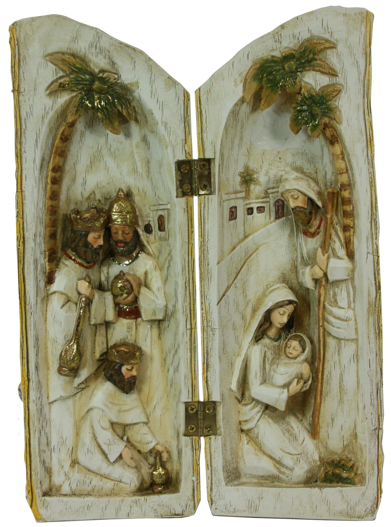 Woodland Inspirations Peace on Earth Nativity Log [38862]