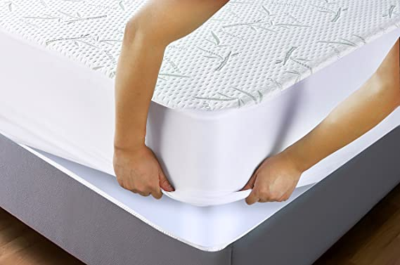 Amazon Utopia Bedding Waterproof Bamboo Mattress Protector