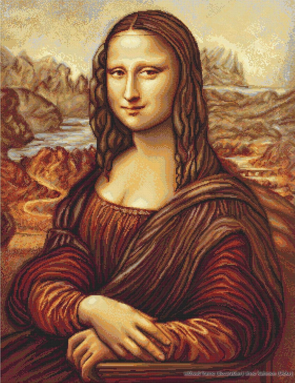 Luca-S Mona Lisa Juego de punto de cruz dise/ño de La Mona Lisa