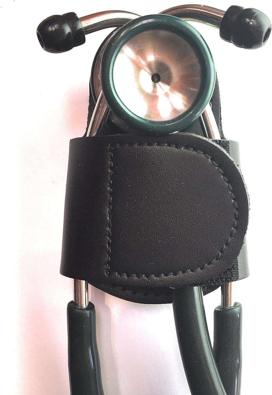 The BATCLIP – Soporte de cadera de estetoscopio hecho a mano de piel de primera calidad; no más transporte de cuello, pérdida o desplazamiento. Lleva con orgullo tu estetoscopio de alta gama con gusto