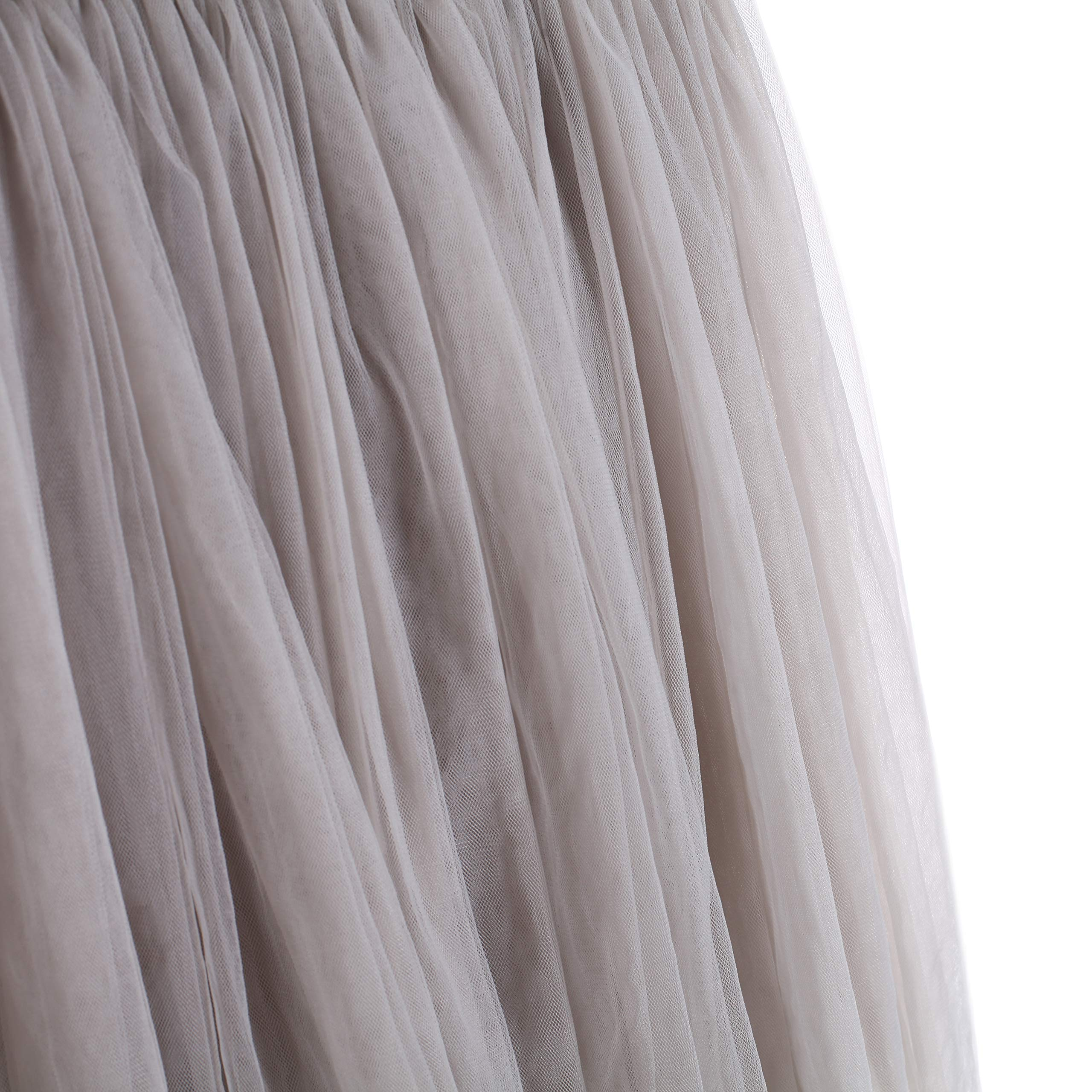 Flofallzique Tulle Tutu Girls Skirts for 1-12 Years Old Dancing Party Toddler Clothes(6, Gray) by Flofallzique (Image #7)