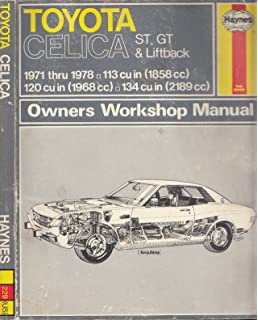 Toyota celica 7185 haynes repair manuals haynes 0038345009358 toyota celica st gt and liftback 1971 78 owners workshop manual fandeluxe Choice Image
