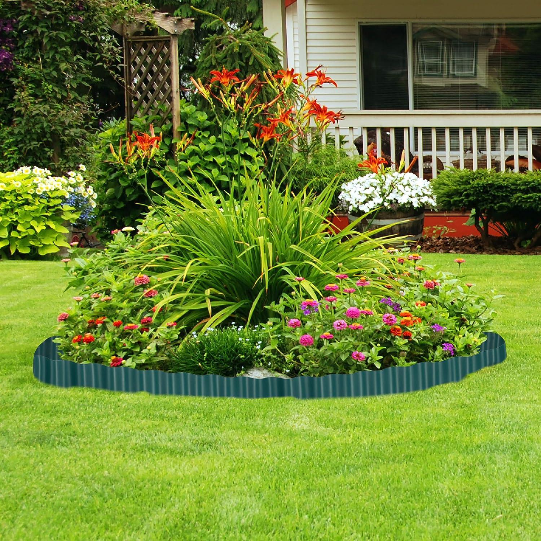 Relaxdays, Marrón, Delimitador de jardín, Borde Flexible para césped, Plástico, 10 x 900 cm: Amazon.es: Jardín