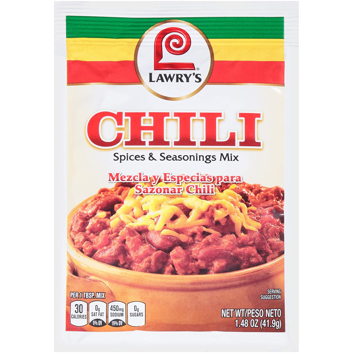 Amazon Com Lawry S Spices Seasonings Chili 1 48 Oz Grocery Gourmet Food