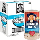 Quaker Oats Quick 1-Minute Oatmeal, Breakfast Cereal, 128 Ounces