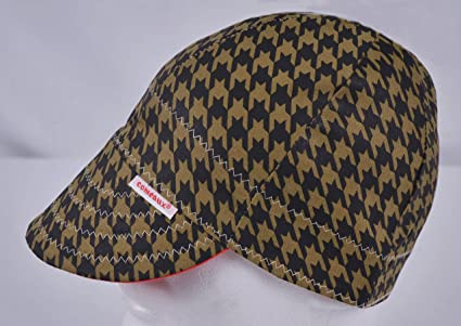 Comeaux Caps Reversible Welding Cap Black and Brown Houndstooth Size ... 0e91f36e270