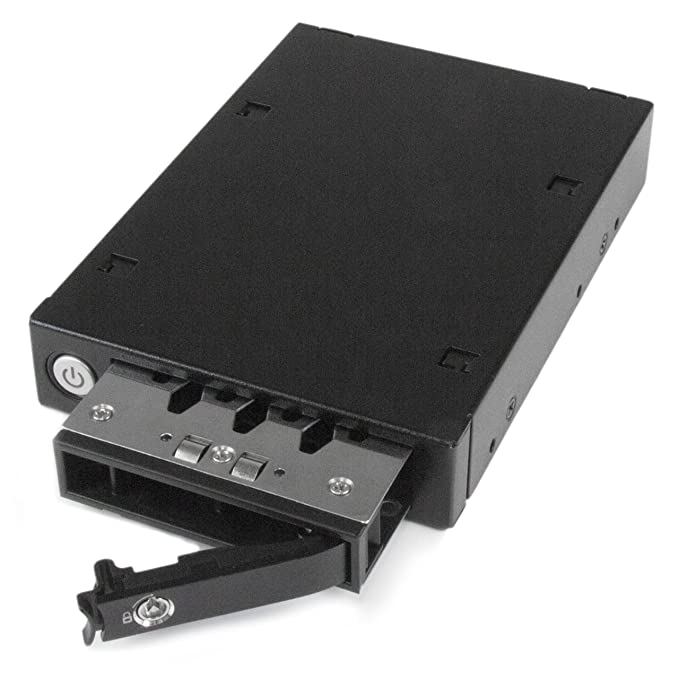 Amazon.com: StarTech.com 3.5in Trayless Hot Swap SATA Mobile Rack for Dual 2.5in Hard Drives - SATA Mobile Rack for 2.5in HDD: Computers & Accessories