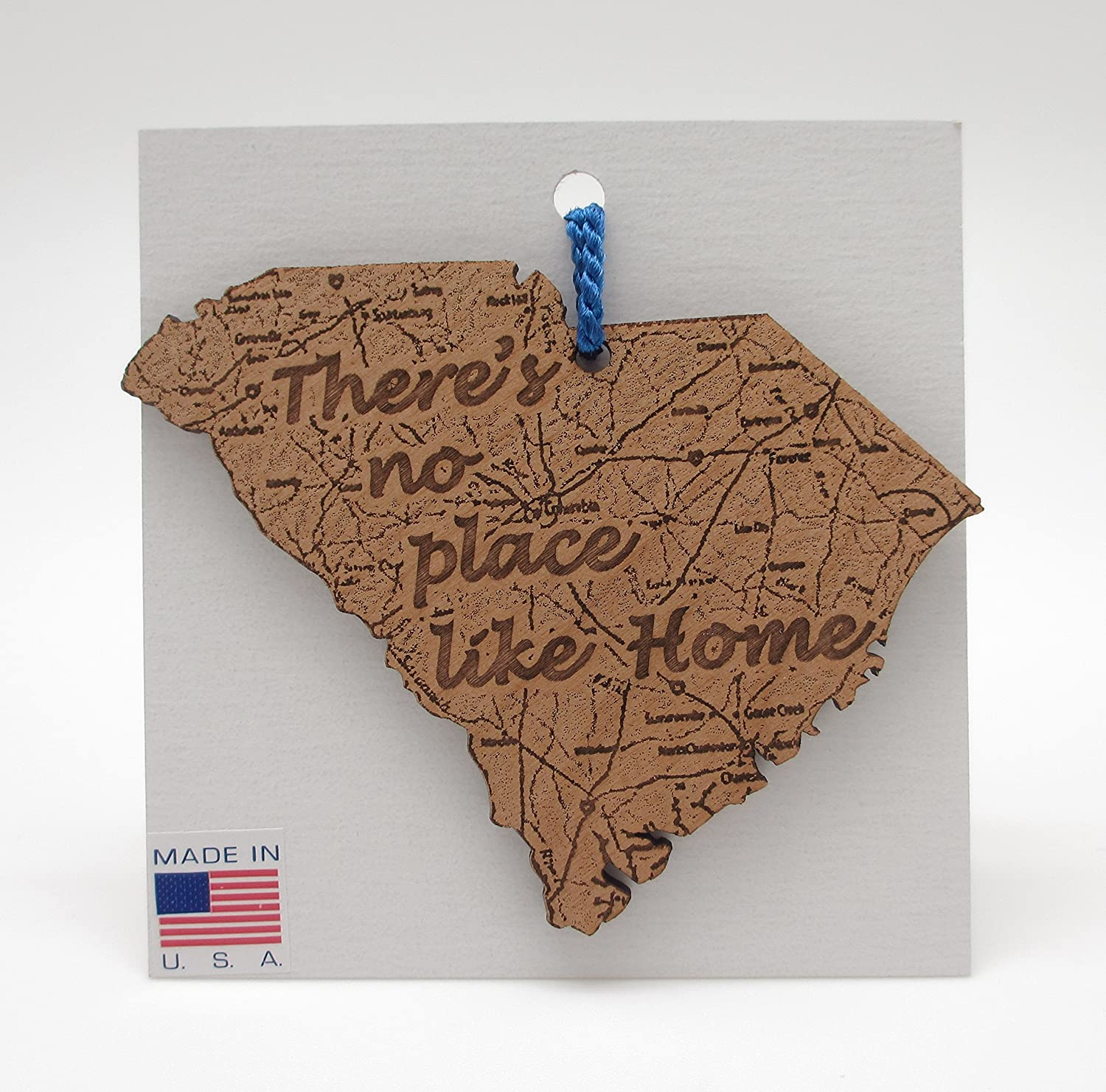 South Carolina State Map Ornament There\'s No Place Like Home
