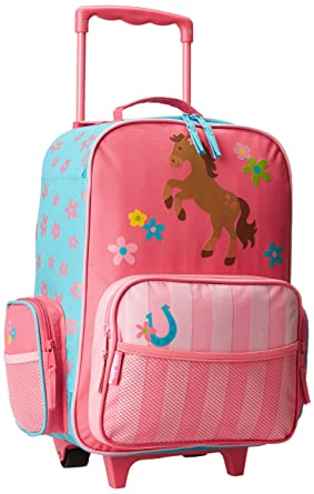 Stephen Joseph Classic Rolling Luggage, Girl Horse