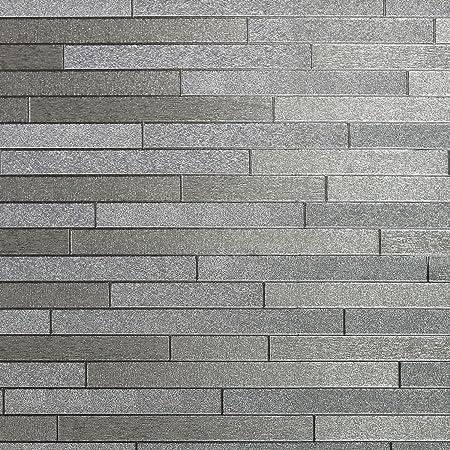 Arthouse Foil Slate Silver Wallpaper 294600