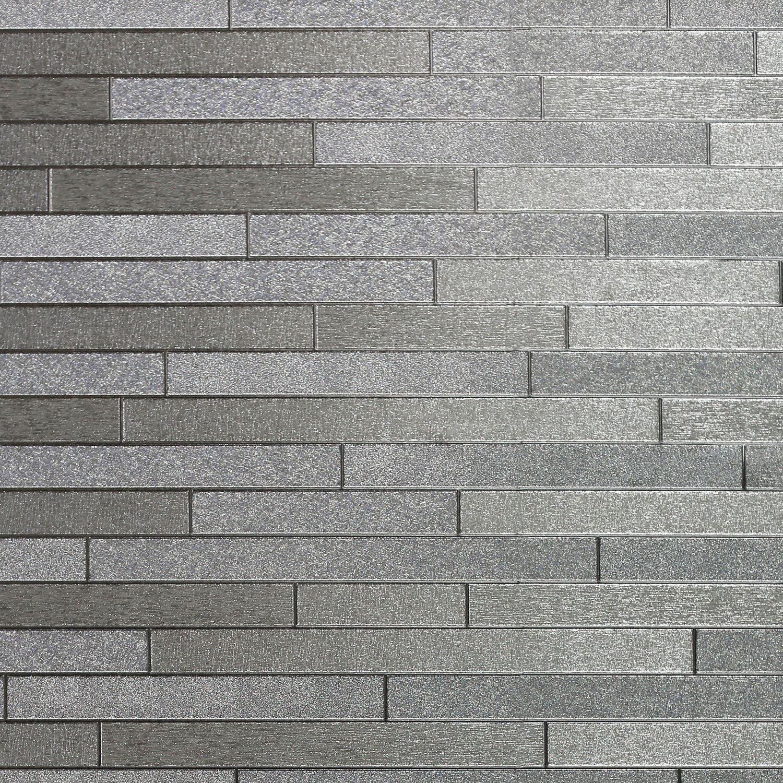 Foil Slate Wallpaper Silver Arthouse 294600