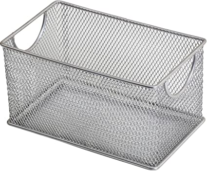 Ybm Home Mesh Storage Box Silver Mesh Great for School Home or Office Supplies  sc 1 st  Amazon.com & Amazon.com: Ybm Home Mesh Storage Box Silver Mesh Great for School ...