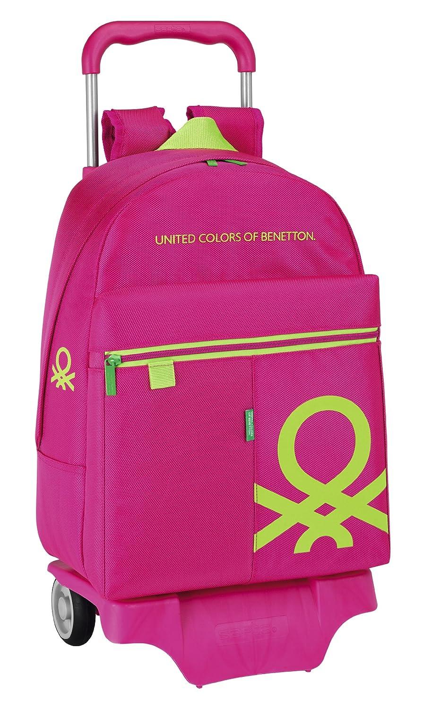 Benetton - Mochila con ruedas, 43 cm, color rosa (Safta 611452160): Amazon.es: Equipaje