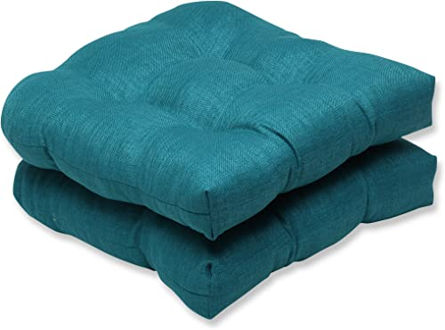 Pillow Perfect Indoor/Outdoor Rave Teal Wicker Seat Cushion