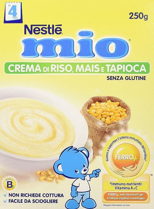 6 opinioni per Nestlé Mio- Crema di Riso Mais Tapioca, senza Glutine, da 4 Mesi - 3 confezioni
