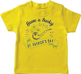 lepni.me Camiseta para Niños Feliz Día de San Patricio en Irlanda Suerte Charms Fiesta Regalo