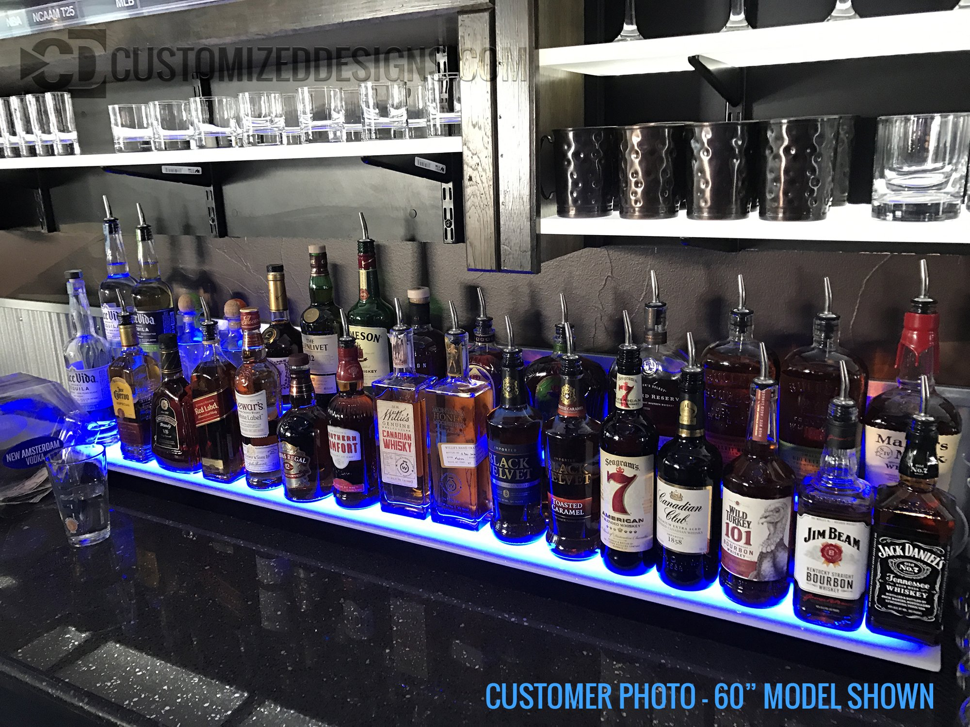 84'' 2 Step Commercial Grade LED Lighted Bottle Display - Remote Control LED Lighting by Customized Designs (Image #5)