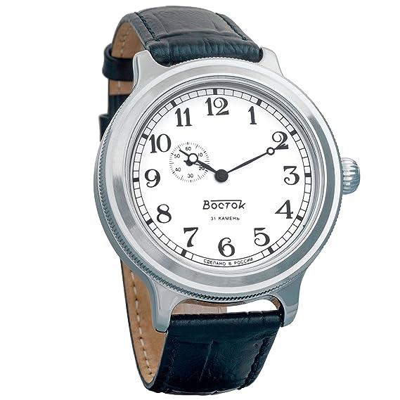 Vostok Retro kirovskie K-43 segunda guerra mundial de carga para hombre correa de piel reloj de pulsera # 550946: Amazon.es: Relojes