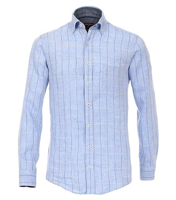 CASAMODA Casual Kurzarm Hemd casual fit Button Down Leinen