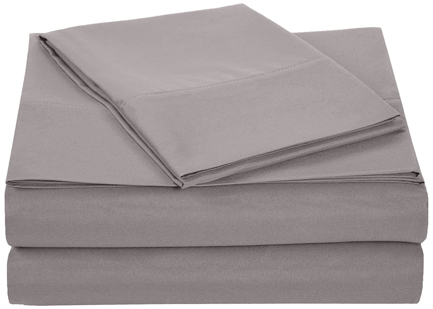 AmazonBasics Microfiber Sheet Set - Twin, Dark Grey