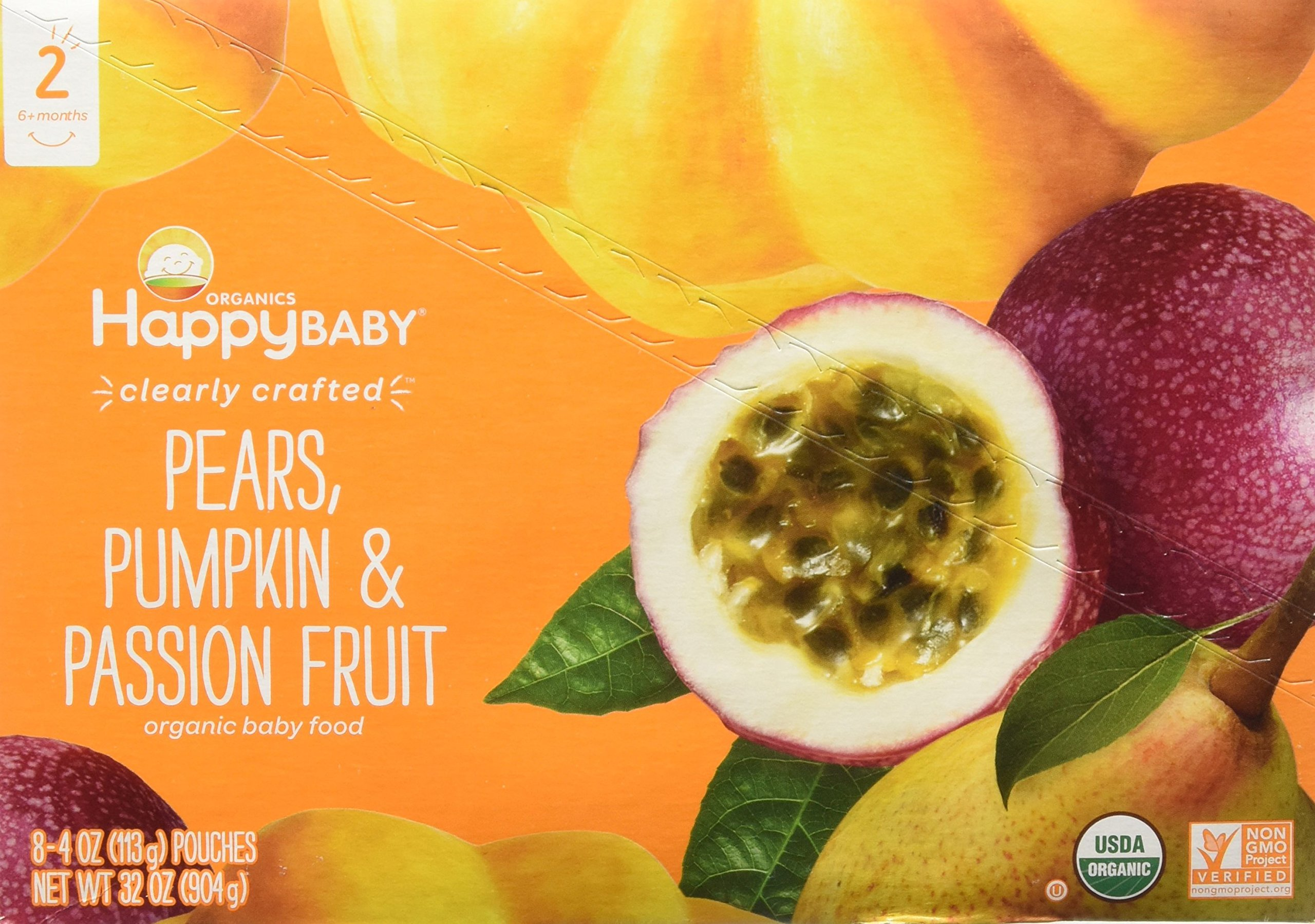 Happy Baby Stage 2 - Pears, Pumpkin & Passion Fruit - 4 oz, 8 ct by Happy Baby (Image #1)
