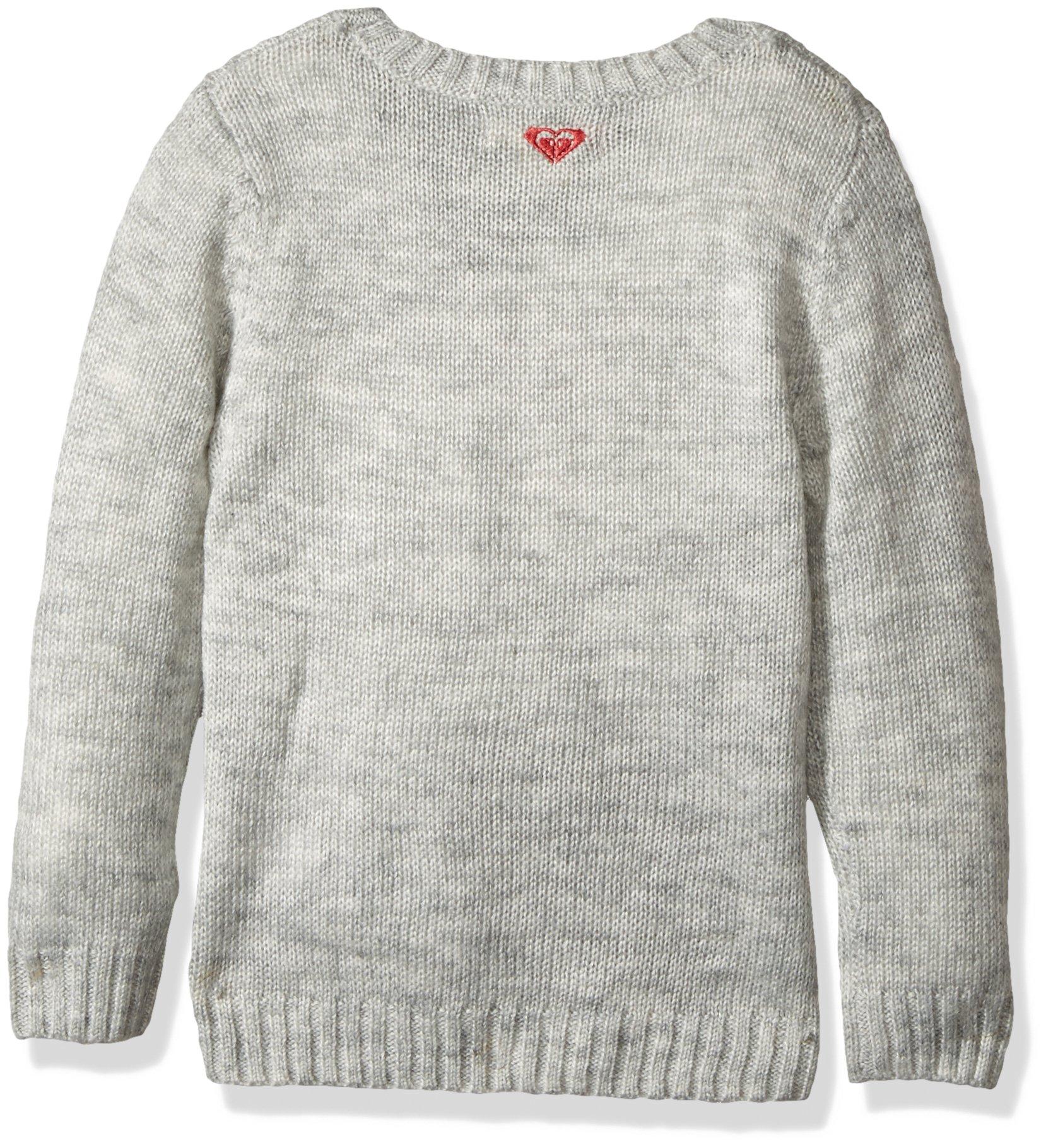 Roxy Girls' Little Daisy Tales Sweater, Heritage Heather 7 by Roxy (Image #2)