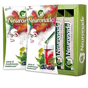 Neuronade bebida para la concentración I con vitaminas elementales & 7 plantas medicinales (entre ellos