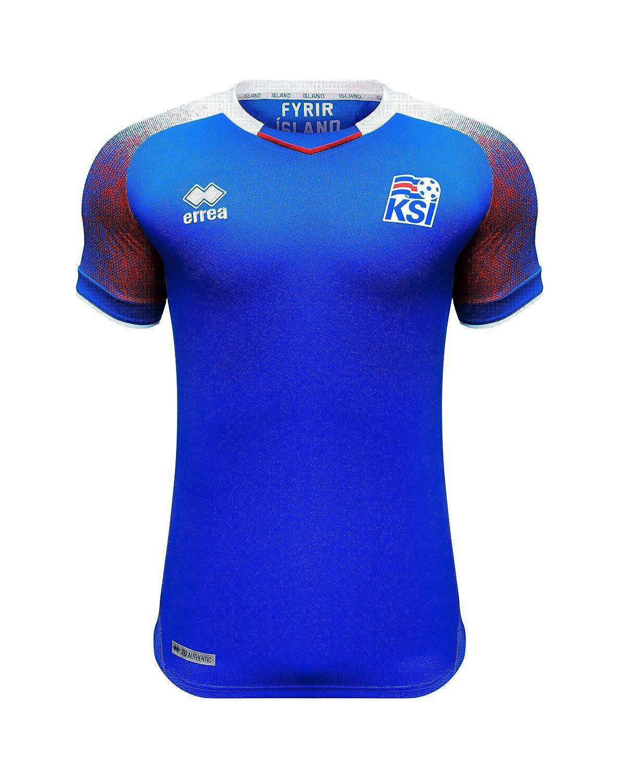 Errea Island Kinder Heim Trikot WM 2018 blau weiß