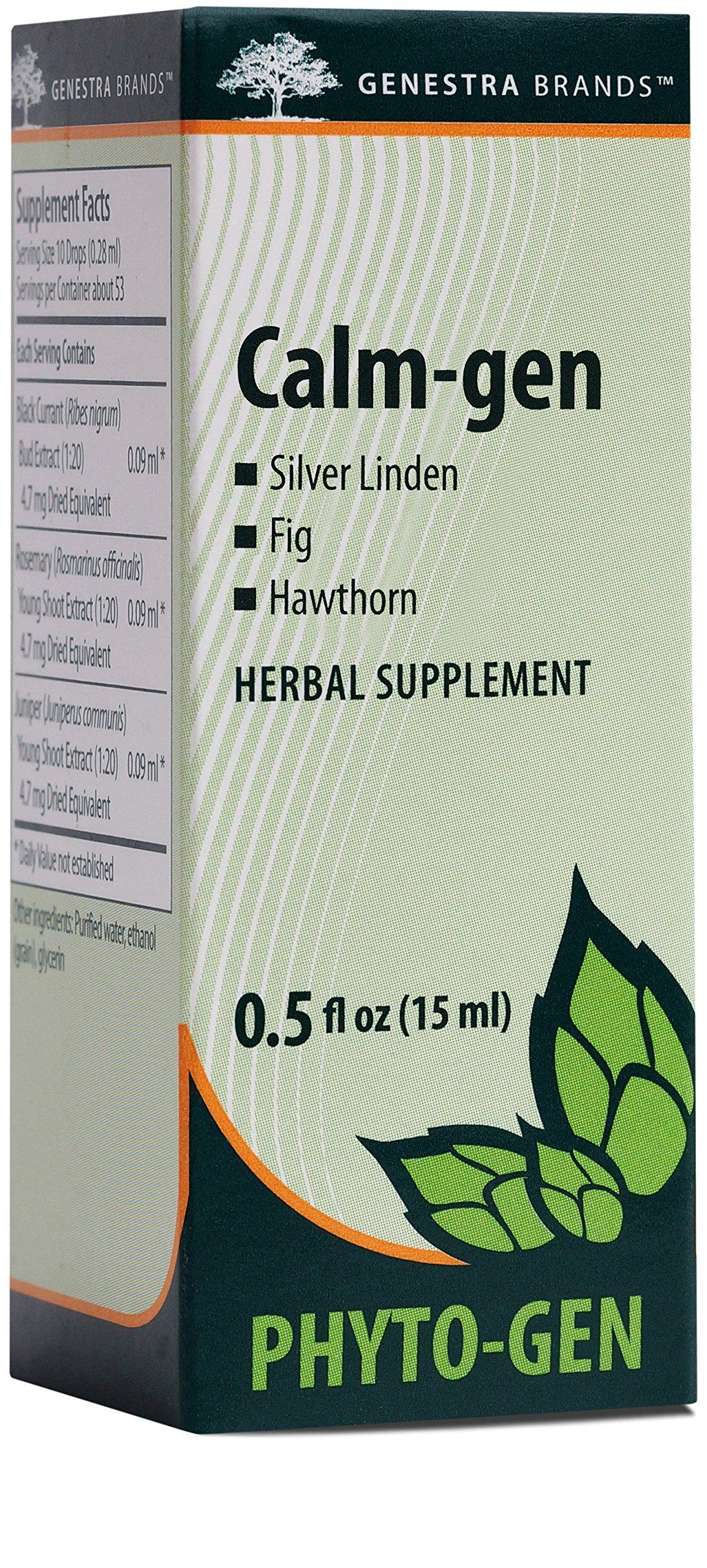 Genestra Brands - Calm-gen - Silver Linden, Fig, and Hawthorn Herbal Supplement - 0.5 fl oz (15 ml)