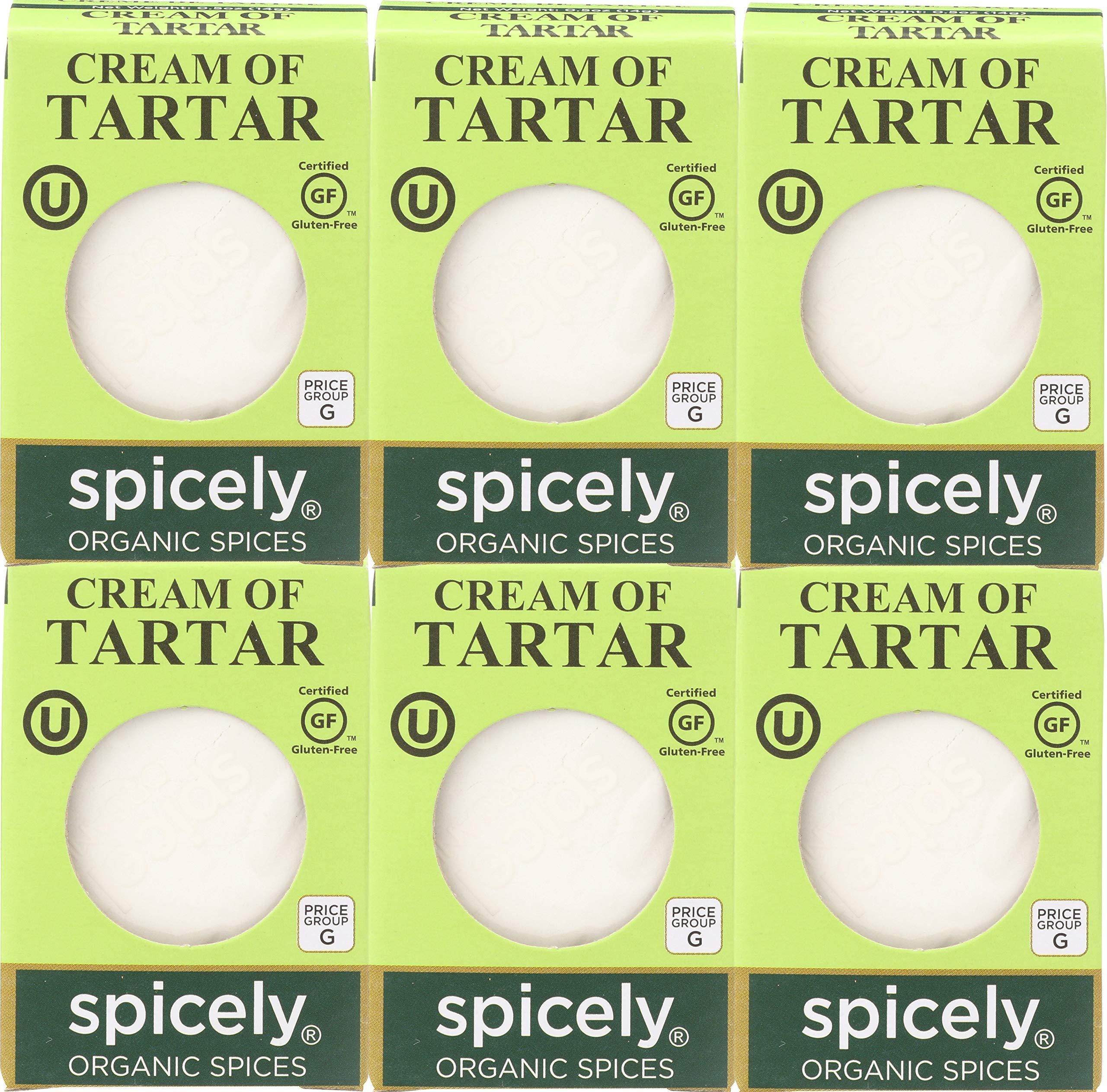 Spicely Cream Of Tartar 0.5 Oz (6 Pack) Certified Gluten Free