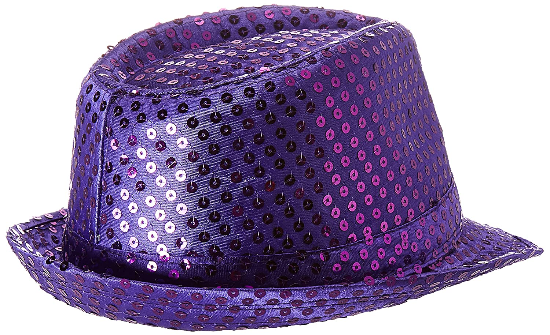 135c35b992f1e Amazon.com  Forum Novelties 65954 Costume Sequin Fedora Hat