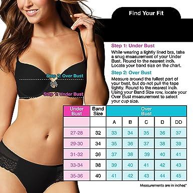 d308c83a9c7fe VASSARETTE Women s Convertible T-Shirt Bra 2 Pack 75760 at Amazon Women s  Clothing store