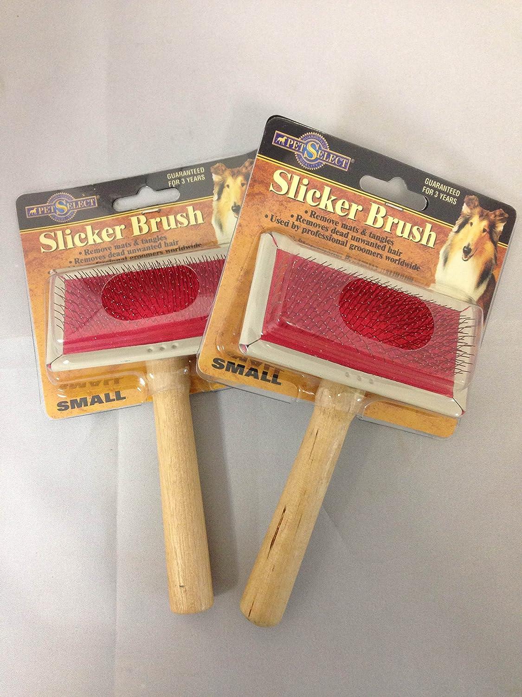 Pet Select Small Slicker Dog Brush Set of 2