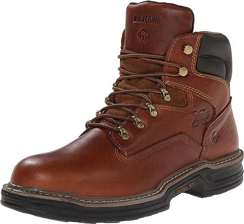"""wolverine men's raider 6"""" work boots"""