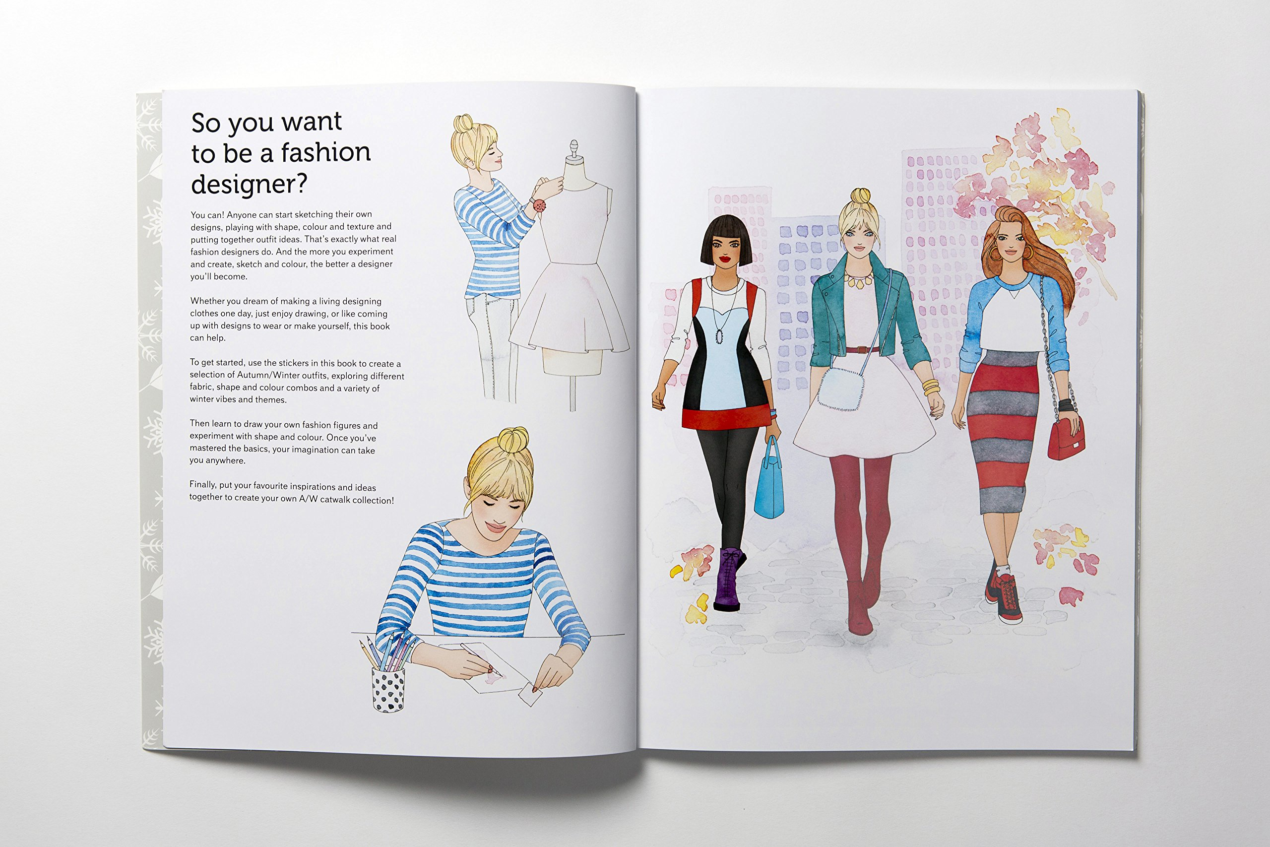 Fashion Stylist Fall Winter Collection An Activity And Sticker Book Mccullough Missy Claybourne Anna 9781780675992 Amazon Com Books