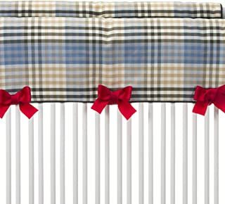 product image for Glenna Jean Air Traffic, Convertible Crib Rail Protector Short, Blue/Red