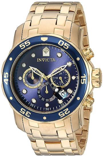 cef68b958fa9 Invicta 0073 Pro Diver - Scuba Reloj para Hombre acero inoxidable Cuarzo  Esfera azul  Amazon.es  Relojes