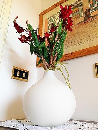 Vase Design Moderne Deko Hochzeit Von Innen Glas Blumen Weiss Matt