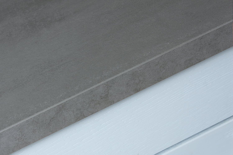 Betonoptik - Resopal Resopal Resopal Küchenarbeitsplatten (4.1m × 600mm × 38mm) 399a05